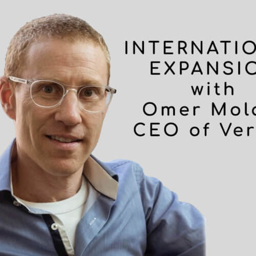 Scaling into New Markets with CEO of Vervoe: Omer Molad